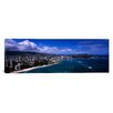 iCanvasArt Panoramic Buildings at the Waterfront, Waikiki Beach, Honolulu, Oahu, Hawaii Photographic Print on Canvas
