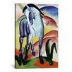 iCanvasArt 'Blue Horse' by Franz Marc Painting Print on Canvas