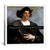 <strong>iCanvasArt</strong> Christopher Columbus Quote Canvas Wall Art