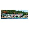 iCanvas Panoramic Boathouse Row at the Waterfront, Schuylkill River, Philadelphia, Pennsylvania Photographic Print on Canvas