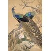 iCanvas A Pair of Peacocks in Spring by Imao Keinen Painting Print on Canvas