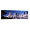 <strong>iCanvasArt</strong> Panoramic Boats at a Harbor, San Diego, California 2010 Photographic Print on Canvas