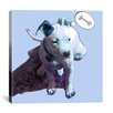 "iCanvas ""Blue Puppy"" by Luz Graphics Graphic Art on Canvas"
