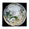 iCanvasArt Blue Marble - Arctic View Canvas Wall Art