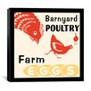 iCanvasArt Barnyard Poultry-Farm Eggs Advertising Vintage Poster