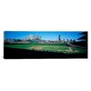 iCanvasArt Panoramic Baseball Match at Wrigley Field in Chicago, Illinois Photographic Print on Canvas