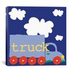 "iCanvas ""Blue Truck"" Canvas Wall Art by Erin Clark"