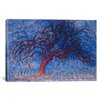 <strong>iCanvasArt</strong> 'Avond (Evening) The Red Tree, 1910' by Piet Mondrian Painting Print on Canvas