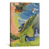 iCanvas 'Au-Dessus De La Mer 1889' by Paul Gauguin Painting Print on Canvas