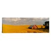 iCanvas Panoramic Barn in a Wheat Field in Palouse, Washington Photographic Print on Canvas