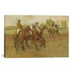 iCanvasArt 'Avant La Course 1882-1888' by Edgar Degas Painting Print on Canvas