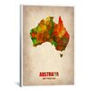 iCanvasArt Naxart Australia Watercolor Map Graphic Art on Canvas