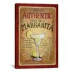 <strong>iCanvasArt</strong> Decorative Art 'Authentic Margarita' by Lisa Audit Vintage Advertisement on Canvas