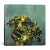"iCanvas ""Basket of Pansies on the Table"" Canvas Wall Art by Vincent van Gogh"