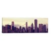 iCanvas Panoramic Buildings in a City at Dusk, Chicago, Illinois Photographic Print on Canvas