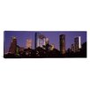 iCanvas Panoramic Buildings in a City Lit Up at Dusk, Houston, Harris county, Texas Photographic Print on Canvas