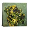 "iCanvas ""Basket of Pansies on a Small Round Table"" Canvas Wall Art by Vincent van Gogh"