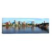 iCanvas Panoramic Buildings at the Waterfront, Morrison Bridge, Willamette River, Portland, Oregon, 2010 Photographic Print on Canvas