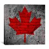 iCanvas Canadian Flag, Maple Leaf #12 Graphic Art on Canvas