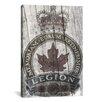 iCanvas Canadian Legion Crest #3 Graphic Art on Canvas