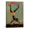 <strong>iCanvasArt</strong> Campeggio (Brevettata - Nome Depositato) Vintage Advertisement on Canvas