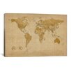 <strong>iCanvasArt</strong> 'Antique World Map II' by Michael Tompsett Graphic Art on Canvas