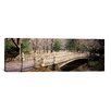 iCanvas Panoramic Arch Bridge in a Park, Central Park, Manhattan, New York City, New York State Photographic Print on Canvas
