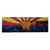 iCanvas Arizona Flag, Grand Canyon Grunge Graphic Art on Canvas
