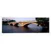 iCanvas Panoramic Arch Bridge across a River, Anderson Memorial Bridge, Charles River, Boston, Massachusetts Photographic Print on Canvas