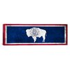 iCanvasArt Wyoming Flag, Grunge Panoramic Graphic Art on Canvas