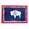 <strong>Wyoming Flag, Grunge with Splatters Graphic Art on Canvas</strong> by iCanvasArt