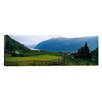 iCanvasArt Panoramic Church in a Village Urnes Stave Church, Lustrafjorden, Luster, Sogn Og Fjordane, Norway Photographic Print on Canvas