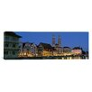 iCanvas Panoramic Buildings at the Waterfront, Grossmunster Cathedral, Zurich, Switzerland Photographic Print on Canvas