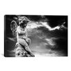 <strong>iCanvasArt</strong> Angel Sculpture Photographic Print on Canvas