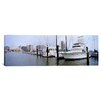 iCanvasArt Panoramic Yachts at a Harbor with Buildings in the Background, Corpus Christi, Texas Photographic Print on Canvas
