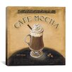 "iCanvas ""Cafe Mocha"" Canvas Wall Art by Lisa Audit"