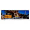 iCanvas Panoramic Cable Car Moving on a Street San Francisco, California Photographic Print on Canvas