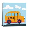 "iCanvas Decorative Art ""Yellow School Bus"" Canvas Wall Art"