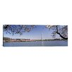 iCanvas Panoramic Cherry Blossom with Monument in the Background, Washington Monument, Tidal Basin, Washington, D.C Photographic Print on Canvas