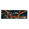 iCanvasArt City Life at Night Panoramic Skyline Cityscape Photographic Print on Canvas