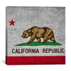 iCanvasArt California Flag, Square Grunge Graphic Art on Canvas
