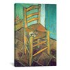 iCanvas 'Chair with Pipe' by Vincent van Gogh Painting Print on Canvas