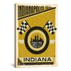 iCanvas 'Circle City - Indianapolis, Indiana' by Anderson Design Group Vintage Advertisement on Canvas