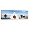 iCanvasArt Panoramic Chapel on a Hill, Tiagua, Lanzarote, Canary Islands, Spain Photographic Print on Canvas