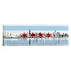 iCanvasArt Chicago Flag, City Skyline Panoramic Graphic Art on Canvas