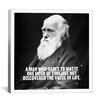 iCanvasArt Charles Darwin Quote Canvas Wall Art