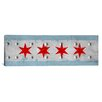 iCanvas Chicago, Illinois - Rivet Metal Painted Panoramic Graphic Art on Canvas