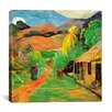 "<strong>iCanvasArt</strong> ""Chemin a Papeete"" Canvas Wall Art by Paul Gauguin"