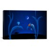 <strong>iCanvasArt</strong> Kids Children Alien and Chameleon Canvas Wall Art
