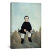 iCanvas 'Boy on The Rocks 1895-1897' by Henri Rousseau Painting Print on Canvas